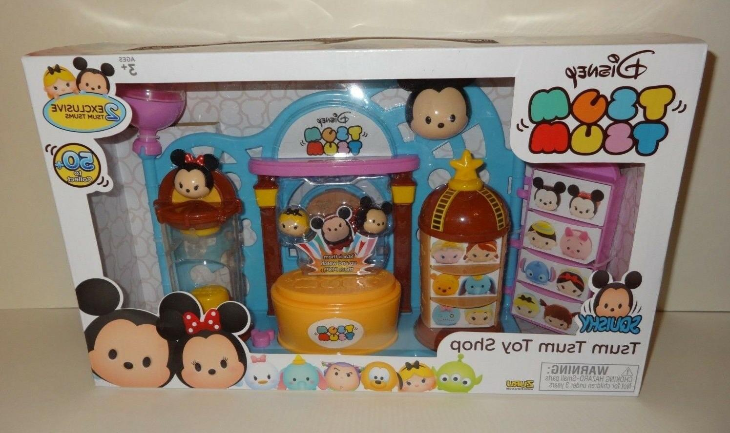DISNEY TSUM N PLAY SHOP PLAY SET W/ MOUSE & ALICE FIGURES!