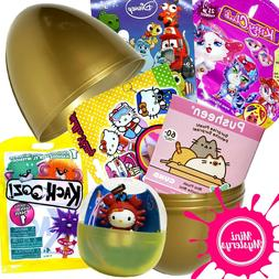 LARGE SURPRISE EGG inc Pusheen, Hello Kitty, Disney Ooshies,