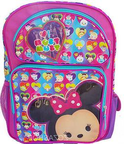 "Licensed Disney I Love Tsum Tsum Large 16"" inches Backpack"