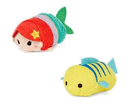 Disney Little Mermaid Tsum Tsum Mini Set of 2 - Ariel and Fl