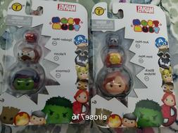 LOT OF 2 MARVEL TSUM TSUM PACKS~SERIES 1~INCLUDES 6 DIFFEREN