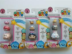 Lot of 3 Disney Tsum Tsum 3 Pack Series 6 Tsparkle Tsurprise