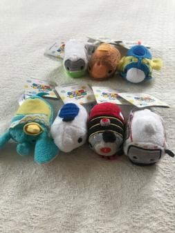 NEW Disney Parks Attraction Tsum Tsum Mini Plush SET OF 7 NW
