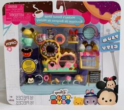 New! Tsum Tsum Disney Mickey's Donuts Shop Set Miniature Toy