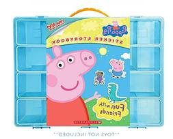 Peppa Pig Sticker Book + Case, Toy Storage Carrying Box. Fig
