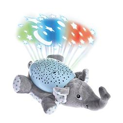 Plush Toy with Ceiling Projector Lights Musical LED Night Li