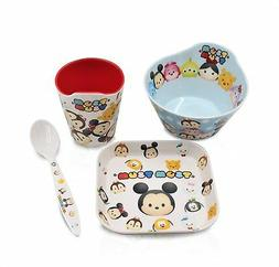 Finex Set of 4 White Tsum Tsum Feeding Meal Cup with Spoon B