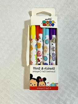 Sketch and Sniff Disney Tsum Tsum Scented Gel Crayons 4-Pack