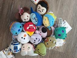 Disney Store Authentic Disney Tsum Tsum Lot Of 13 Plush Mini