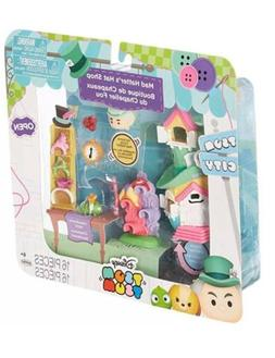 Disney Tsum Tsum City Mad Hatter's Hat Shop 16pc Set Miniatu