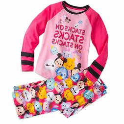 Disney Store Tsum Tsum Girls PJ's Pajamas Size 7/8 Minnie Mi