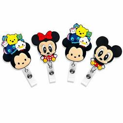 Finex Tsum Tsum Mickey Mouse Minnie Mouse Set of 4 Retractab
