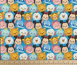 tsum tsum mickey100 percent cotton fabric fat