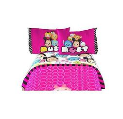 "Disney Tsum Tsum Kids Comfortable Twin Sheet 3 Pcs Set 66"" X"