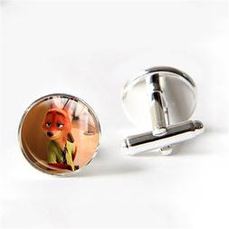 Zootopia Mini Doll Cufflinks for mens Birthday Gift <font><b